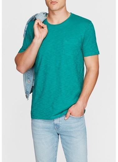 Mavi Cepli Tişört Yeşil